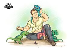 Owen And His Raptors - Jurassic World by iszac87.deviantart.com on @DeviantArt