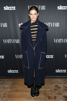 Riley Keough - Style your outfit around a statementtopper, and you won't have to take off your coat to look polished.