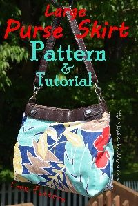 Large Purse Skirt Pattern- FREE ~ Joy's Jots, Shots & Whatnots