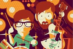 The Black Keys are going to be pretty busy this spring/summer as they are set to headline just about music festival under the sun. For each of their concerts the Keys have a custom concert poster created and they are sold in limited quantities to fans. Here are 100 of the best creations, ma