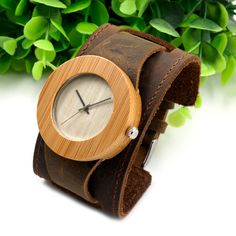 Wood Watches Chicago Bracelets Genuine Leather Bands //Price: $56.85 & FREE Shipping // #style #accessory