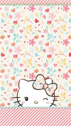 69 Ideas For Flowers Wallpaper Iphone Hello Kitty Sanrio Wallpaper, Cute Wallpaper For Phone, Hello Kitty Wallpaper, Wallpaper Iphone Disney, Cute Wallpaper Backgrounds, Flower Wallpaper, Cute Wallpapers, Spring Wallpaper, Wallpaper Desktop