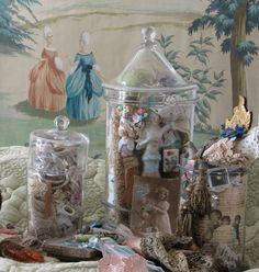 glass jars full of prettiness