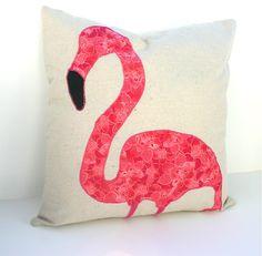 Pink Flamingo Decorative Throw Pillow Cover