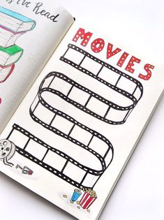 Bullet Journal movie tracker Bullet Journal movie tracker,Möööp Keep track of all the movies you've watched in your Bullet Journal! Or make a list of the movies you want to see and check them.