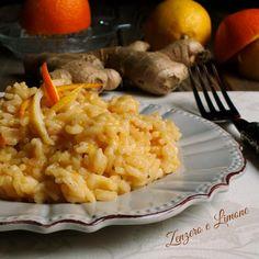 RISOTTO AGLI AGRUMI E ZENZERO: se volete portare in tavola un piatto nuovo, vi consiglio di tenere in considerazione questa semplice ricetta. Zenzero e Limone  http://blog.giallozafferano.it/paola67/risotto-agli-agrumi-e-zenzero/