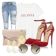 """Atl"" by shayshay20 on Polyvore featuring MANGO, Givenchy, Christian Louboutin, Kate Spade, Prada and Lipsy"