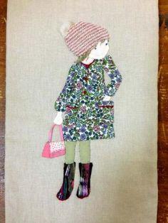 おシャレして・・ワンピースの女の子 - パッチワークキルト・手芸キットのゆう風舎 Net Shop