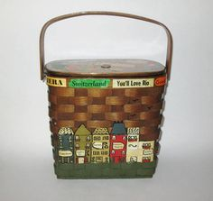 Vintage 1960s Purse / 60s Basket Purse Handbag By Caro Nan /