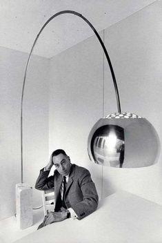 1962 - Achille Castiglioni - Arco Floor Lamp by Flos Lighting Lamp Design, Lighting Design, Arco Floor Lamp, Cool Lamps, Minimalist Design, Industrial Design, Icon Design, Cool Designs, House Design