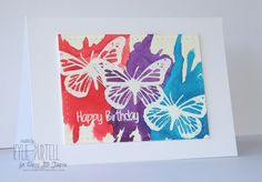Happy Little Stampers, Kylie Purtell, Butterfly Birthday, Embossing, Brushos