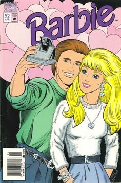 Barbie Magazine with Barbie and Ken Selfie - using a Polaroid camera LOL