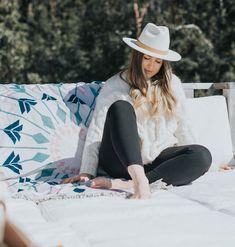 Round Towels, Beach Towel, West Coast, Cowboy Hats
