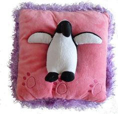 "This penguin pillow would be a cute addition to a girl's bedroom or a great gift for an animal lover. - Measures 13"" - Soft plush - Not suitable for children under 5 years"