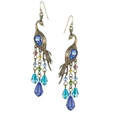 Peacock earrings from Avon. I just bought a pair. They are even prettier than the picture.
