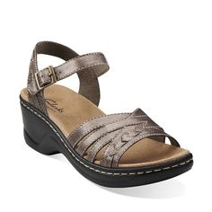 Lexi Norwich in Pewter Leather - Womens Sandals from Clarks