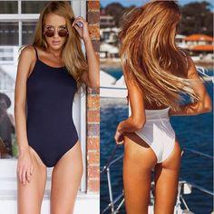 [ $21.50 ] 3015497 Fashion sexy  pure color swimwear