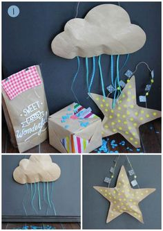 Ideas For Gifts Wrapping Diy Party Favors Diy For Kids, Crafts For Kids, Party Fiesta, Paper Crafts, Diy Crafts, Baby Party, Inspirational Gifts, Party Favors, Party Bags