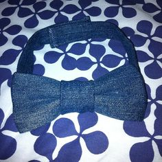 Custom Denim Bow Tie  I can make a custom one for you. Contact me for details!  @kooljaye on Twitter