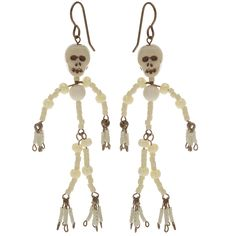 Tutorial - How to: Mr. Bone Jangles Earrings Project | Beadaholique