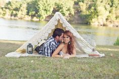 love this session! #tent  #tipi #engagement