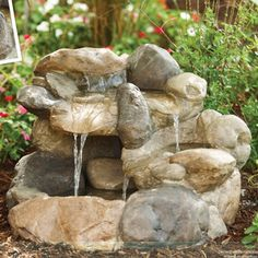 another rock fountain