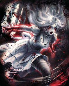 Alice Hysteria by Axsens on DeviantArt Dark Fantasy Art, Fantasy Girl, Fantasy Artwork, Alice Madness Returns, Alice In Wonderland Artwork, Dark Alice In Wonderland, Alice Liddell, Beautiful Dark Art, Dark Art Drawings