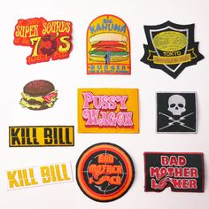 Quentin Tarantino Movies Ultimate Patch Series - Iron-On Patches, Uk Seller,