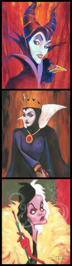"""""""Queens of Madness""""  by Stephen Fishwick Size: 36 x 9.75  Hand-Embellished Giclée on Canvas  Edition of 95"""