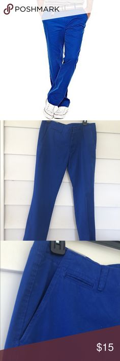 "JCPenney | Men's Blue Khaki Size 34x30. New With Tags. A fun pair of pants for the outgoing man! Great for golfing, summer parties, and any occasion that requires a little ""pizzazz""! jcpenney Pants Chinos & Khakis"