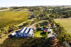 Earlier this year Two Hands' Managing Director Michael Twelftree took a helicopter ride over the Barossa Valley. This is a beautiful aerial shot of our Cellar Door and winery in Marananga, Barossa Valley.