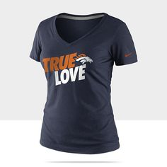 "Nike ""True Love"" NFL Denver Broncos Women's T-Shirt - College Navy"