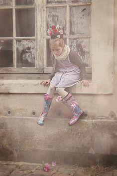 Noro kidswear for fall 2014 shot at Versailles near Paris