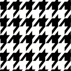 The houndstooth pattern is trending this season. Celebs like Selena Gomez, Kim Kardashian, and Lady Gaga have been spotted in houndstooth. Black and white is the ideal color mishmash, but you can e… Stencil Patterns, Stencil Designs, Textile Patterns, Print Patterns, White Placemats, Stencil Painting, Bird Stencil, Damask Stencil, Fashion Illustrations