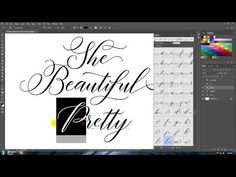 How to Access Alternate Characters in Photoshop CC - YouTube