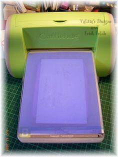 Using Plastic Stencils in the Cuttlebug