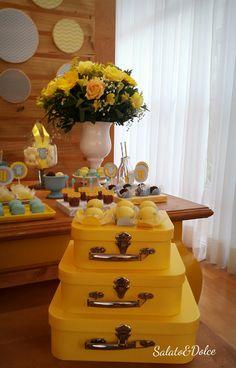 Decoração de Festas Personalizadas Chevron Amarelo