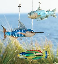 Recycled Bottle Fish (love these)