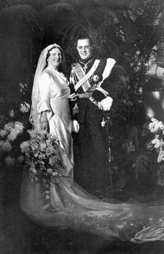 Her Royal Highness Princess Juliana of the Netherlands, Princess of Orange-Nassau, Duchess of Mecklenburg, Princess of Lippe-Biesterfeld and His Royal Highness Prince Bernhard of the Netherlands, Prince of Lippe-Biesterfeld. Married: January 7, 1937