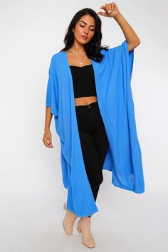 Women's Batwing Sleeves Shabby Blue Cardigan – Blushgreece.shop Blue Cardigan, Batwing Sleeve, Bat Wings, Kimono Top, Shabby, Model, Sleeves, Tops, Fashion