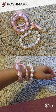 Bundle of 2 pink bead bracelets Two pink bead bracelet that are great to wear with a cute sundress! Accessories
