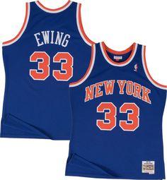ba808dc7 Mitchell & Ness Men's New York Knicks Patrick Ewing #33 Hardwood Classics  Swingman Jersey, Size: XXL, Blue