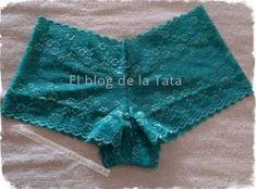 El blog de la Tata: Boxer femenino cortito Sewing Lingerie, Cute Lingerie, Lace Lingerie Set, Beautiful Lingerie, Women Lingerie, Underwear Pattern, Bra Pattern, Sewing Patterns, Clothing Patterns