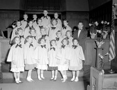 Children Choir, looks like the church I grew up in. And our old choir robes.