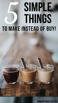 Five simple things to make yourself at home! Easy homemade goods that taste better, are healthier for you and will actually save you money! #homemade #makeyourown #fresh #healthy #healtydiet #simple #simplethings #simplerecipe #easyrecipe #makeyourself #homemadebaking #homemadebread #cooking #baking #cookingtips #recipe #recipes #diet #sustainability #sustainable #sustainableliving #ecofriendly #ecofriendlyliving #lifewithless
