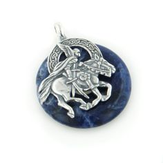 Sterling Silver Medieval Winged Knight Rider on Horse Pendant with Genuine Blue Sodalite , http://www.amazon.com/dp/B00023JTR0/ref=cm_sw_r_pi_dp_edVSpb0HXFN76