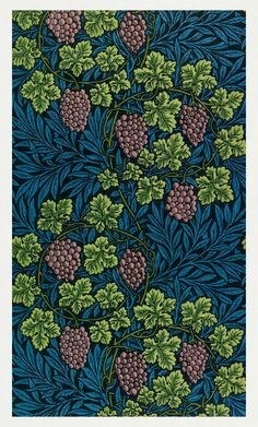 Vine pattern (1873) by William Morris. Original from The Smithsonian Institution. Digitally enhanced by rawpixel. | free image by rawpixel.com William Morris Patterns, William Morris Art, Exeter College, Arts And Crafts Movement, Free Illustrations, Paper Art, Art Decor, Art Nouveau, Vines