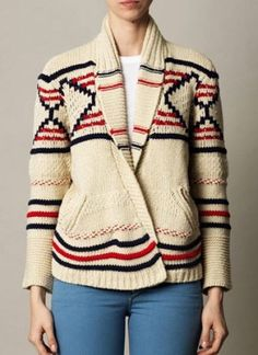 Apricot Long Sleeve Geometric Pattern Cardigan Sweater - Sheinside.com Mobile Site