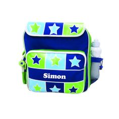 Personalised Back Pack Bright Star Personalized Backpack, School Sports, Bright Stars, Kids Bags, Kids Backpacks, Little Boys, Boy Or Girl, Under Armour, Blue