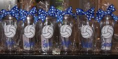 Personalized tumblers full of little goodies make great group/team gifts. Volleyball Team Gifts, Volleyball Party, Volleyball Quotes, Coaching Volleyball, Girls Softball, Volleyball Players, Volleyball Ideas, Volleyball Drills, Basketball Gifts